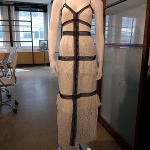 Self-Potrait Lace trim maxi dress